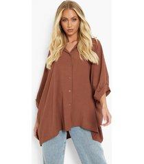 oversized blouse met textuur en volle mouwen, rust