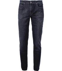 fay black cotton jeans