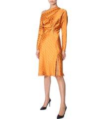 versace jacquard dress with chain