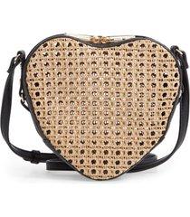 mali + lili melanie basket heart crossbody bag - black