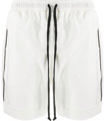 alchemy contrast trim drawstring shorts - white