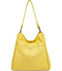 american leather co. austin triple entry leather bucket bag
