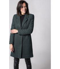 płaszcz ciemno zielony