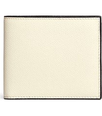leather bifold wallet - white
