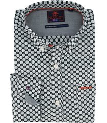 nza katikati overhemd donkergroen geprint