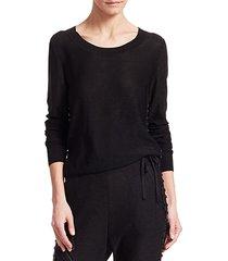 studded lurex silk knit pullover sweater