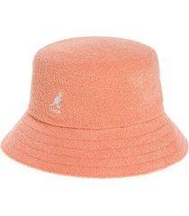 women's kangol bermuda bucket hat - pink