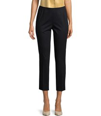 lafayette 148 new york women's stanton casual cropped pants - stone - size 6