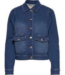 aiden puff jacket jeansjacka denimjacka blå mos mosh