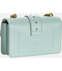 pinko women's love mini icon simply shoulder bag - sage grey