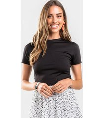 alison cut out tee - black