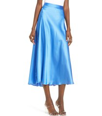 women's vero moda christa midi skirt, size medium - blue