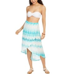 j valdi tie-dyed swim cover-up skirt women's swimsuit