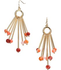 style & co gold-tone beaded stick chandelier earrings, created for macy's