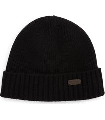 barbour carlton beanie - black