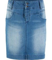 gonna di jeans sostenibile in poliestere riciclato (blu) - bpc bonprix collection