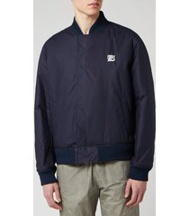 kenzo men's reversible bomber jacket - midnight blue - xl