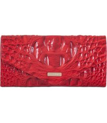 brahmin veronica melbourne embossed leather wallet