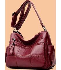 tracolla in pelle soft multi-slot per donna borsa per il tempo libero messenger borsa per il tempo libero