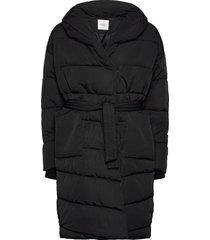 kenya long coat gevoerde lange jas zwart sparkz copenhagen