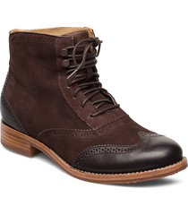 claremont boot shoes boots ankle boots ankle boots flat heel brun sebago