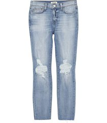 l'agence women's el matador slim-fit destroy crop jeans - ghost destructed - size 26 (2-4)