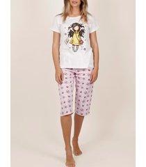 pyjama's / nachthemden admas homewear pyjamabroek kort t-shirt lente bij laatste santoro