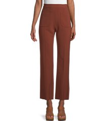 sandro women's high-rise flare pants - tobacco brown - size 42 (xl)