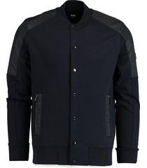 hugo boss vest skiles met knopen blauw 50423858/402