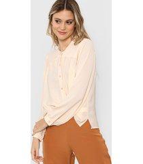 camisa beige la cofradia aretha