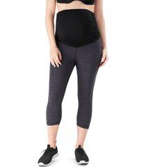 women's belly bandit activesupport essential capri maternity leggings, size medium - grey