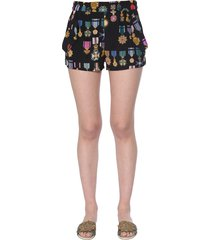 mr & mrs italy crêpe de chine shorts