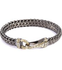 'classic chain' gold large woven chain bracelet