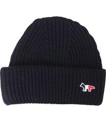 maison kitsuné knitted hat