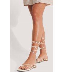 na-kd shoes sandaler - white
