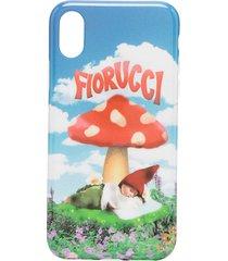 fiorucci mushroom print iphone x/xs case - blue