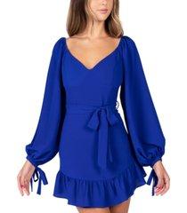 b darlin juniors' emma ruffled sheath dress, created for macy's