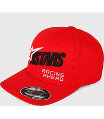 gorra rojo-negro-blanco alpinestars title hat