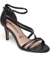 woms sandals sandal med klack svart tamaris