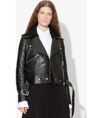 proenza schouler glossy leather jacket black 2