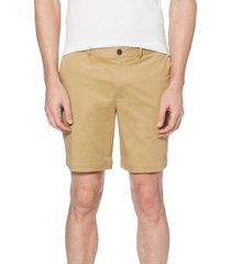 men's original penguin stretch cotton twill shorts, size 30 - beige