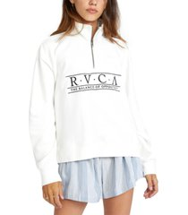 rvca juniors' cotton fleece zip-neck sweatshirt