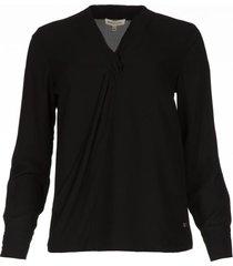 overslag blouse tica  zwart