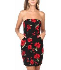 b darlin juniors' strapless floral-print dress