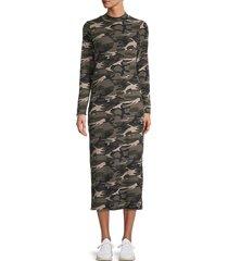 stitchdrop women's rib-knit camo midi dress - camouflage - size xl