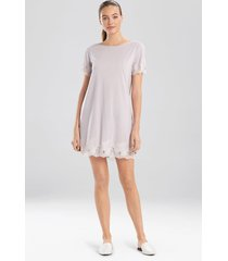 natori luxe shangri-la short sleeve sleepshirt sleep pajamas & loungewear, women's, size m natori