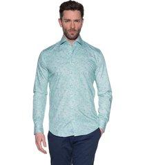 blue industry casual shirt met lange mouwen groen