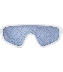 fendi x joshua vides botanical fendi shield sunglasses - white