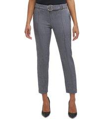 calvin klein belted slim-fit pants