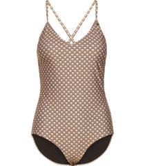 ronaiw swimsuit baddräkt badkläder brun inwear